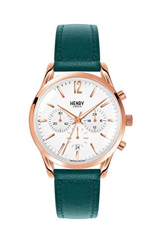 Henry London Orologio Cronografo Quarzo Unisex Adulto con Cinturino in Pelle HL39-CS-0144