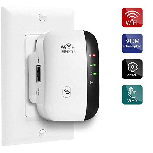 FOLME WLAN Booster WiFi Verstaerker Range Extender 300Mbps Multifunction Wi-Fi Signal-verstärker Wireless Access Point 2.4GHz mit WPS Funktion Willigt IEEE802.11n/g/b