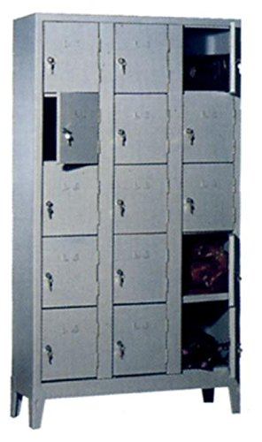 COARME Armadio Metallo Acciaio portaborse 15 vani 101x50x180