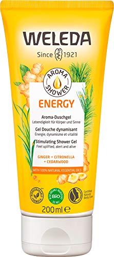 WELEDA Aroma Shower ENERGY – Belebendes Naturkosmetik Duschgel mit erfrischendem Duft unterstützt das natürliche Wohlbefinden und die Vitalität (1 x 200ml)