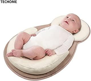 GroceryLN Baby Bed Mattress - Newborn Sleep Positioner Infant Body Support Crib Bumper Nursing Pillow Anti Roll Sleeping Cushion
