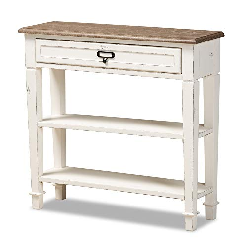 Dauphine French Accent Console Table in White