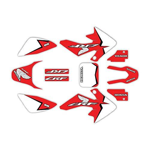 Modern Graphic Kit fits 04-19 CRF50 Graphic Kit Shroud Plastic Decal CRF 50 decal MX Sticker