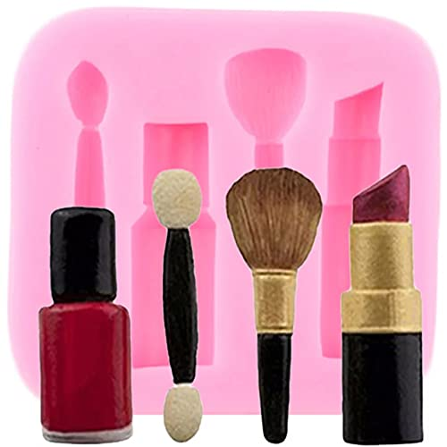 FGHHT Makeup Tools Lipstick Nail Polish Silicone Mould Cupcake Fondant Cake Decorating Tools Chocolate Gumpaste Candy Resin Clay Mold