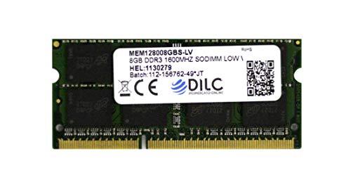 DILC RAM Sodimm DDR3 8GB PC3-12800 1600Mhz (204 Pin) 1.35v (Low Voltage) Memoria Notebook/Portatile