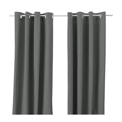Ikea 102.568.49 MERETE Gardinenpaar in grau (145x300cm)