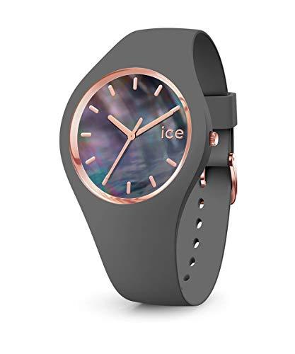 ICE-WATCH - Ice Pearl Grey, Reloj Gris para Mujer con Correa de Silicona
