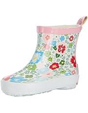 Playshoes Stivaletti Pioggia-Motivo Floreale, Stivali di Gomma Naturale Bambina