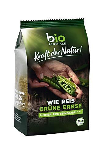 biozentrale wie Reis grüne Erbse | 280g Reis aus Erbsenmehl Grün | Mit hohem Proteingehalt | Ideal als Reis, Nudeln & Pasta Alternative