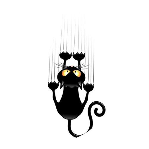 Sharplace DIY Aufkleber WC Sitz Folienaufkleber Toilettensitz Bad WC Dekor Sticker - Kletterwand Katze