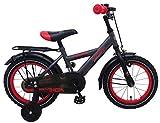 Spielwaren Klee Fahrrad 14 Zoll Jungen Kinderfahrrad Jungenfahrrad Rücktrittbremse Grau 81418