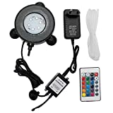 Luz Acuario,Led Acuario RGB 16 Colores Aquarius LED LED Decoración Burbuja Air Piedra Luz Remote Control Fish Tank Lamp AC100-240V