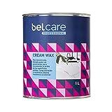 BELCARE Cera abrillantadora para Superficies de Piedra Interior y Exterior Cream Wax - Marmol, Granito