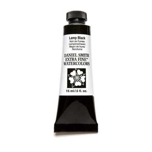DANIEL SMITH Extra Fine Watercolor 15ml Paint Tube, Lamp Black