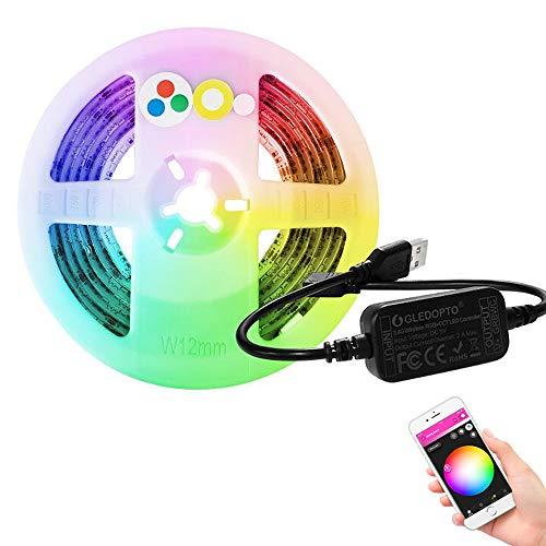 Preisvergleich Produktbild RGB Controller Smart LED-Streifenlicht DC12-24V LED-Streifenlicht- ZLL APP RGBW RGB + CCT Kompatibel mit Hue Bridge Amazon Echo Plus und ZigBee3.0 (2M Strip)