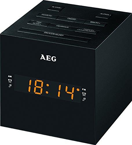 AEG MRC 4150 Uhrenradio mit USB-Anschluss schwarz