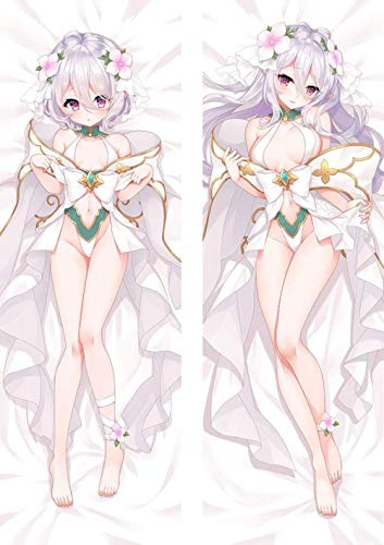ZHTX Princess Connect ReDive Kokkoro Double-Sided Print Pillow Covers Anime Cushion Cover Case Zippered Square Pillowcase 2Way Tricot 100 x 34cm(39 37in x 13 38in)