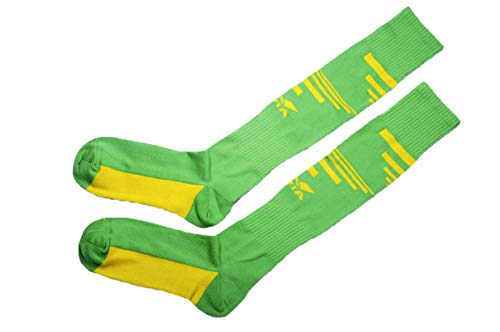 Nivia Men's Encounter Soccer Socks, Large 26.5 cm (Green and Yellow)