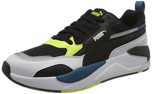 PUMA X-Ray 2 Square, Sneaker Unisex-Adulto, Bianco White Black/Fizzy Yellow/digi/Blue/Ultra Violet,...