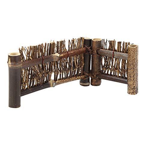 Cikonielf Natürliche Bambuslatte Rolled Fence Screen Mini Tee Zeremonie Teetisch Set dekorative Ornamente(L)