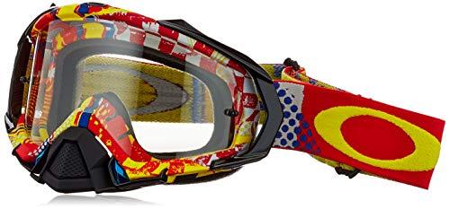 Oakley Mayhem Pro MX Mosh Pit Men's Dirt Motocross Motorcycle Goggles Eyewear - White/Clear / One Size Fits All
