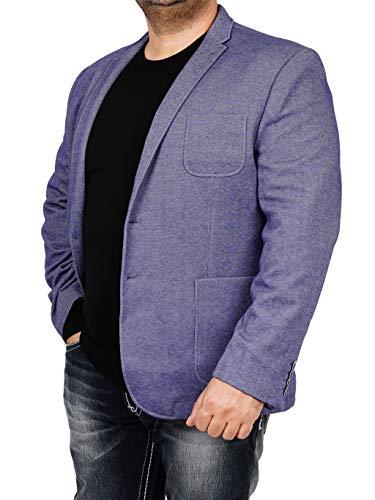 bonprix Herren Sakko untersetzt Comfort Fit Sweat Jeanslook Übergröße Blazer Zweiknopf Jackett Anzug Langgröße bequem Spezialgröße, Größe 26, Jeansblau