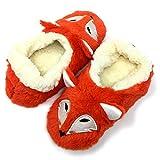 Oooh Yeah Socks Fluffy Animal Sherpa Foxy Plush Slippers S (Shoe Size 5/6)