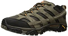 Performance suede leather and mesh upper Bellows, closed-cell foam tongue keeps moisture and debris out Protective rubber toe cap Breathable mesh lining. 5mm lug depth Vibram TC5+ sole