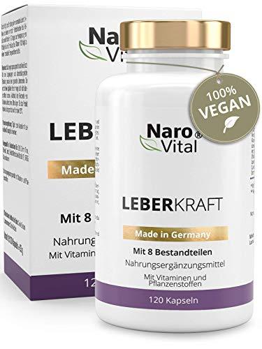 Mariendistel - 80{bdff0c46abbfad35b387c910238e8a14f538d7ee35f9e822d38db561860404b7} Silymarin, Artischocken, Löwenzahn, Curcuma, Cholin & Desmodium - Komplex für die Leber (wichtigstes Entgiftungs-Organ) - 120 Kapseln - Vegan - Milk thistle