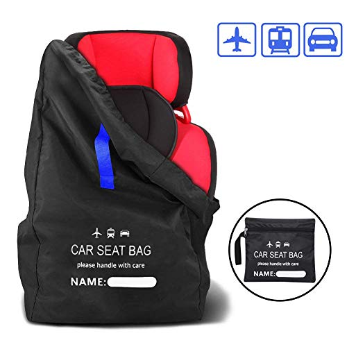 Car Seat Travel Bag, Large Gate Check Travel Luggage Backpack, Baby Car Seat Bag with Shoulder Straps, Waterproof Carseat Bags for Air Trains Travel Universal Size