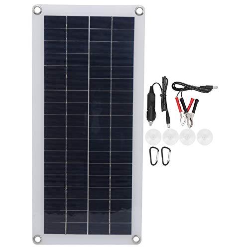 XINMYD Panel Solar, Salida Dual del Panel Solar del silicio policristalino de 10W para el Cargador de Emergencia Que acampa al Aire Libre