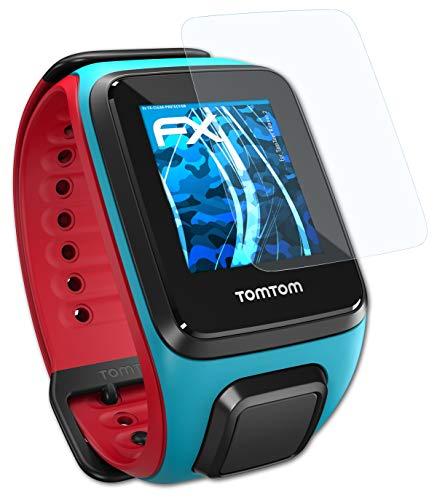atFoliX Schutzfolie kompatibel mit Tomtom Runner 2 Folie, ultraklare FX Bildschirmschutzfolie (3X)