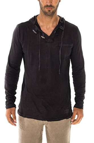 Linen hoodie for him - linen 4th anniversary gifts for men