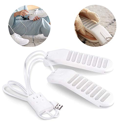Preisvergleich Produktbild EAHKGmh Schuhtrockner,  Schuhe Trockner,  USB Trockner Sanitizers Heizung Trockner mit Timer Prevent Geruch Bakterien zum Trocknen von Schuhen Stiefel Handschuhe White Winter Haushalt Wesentliche