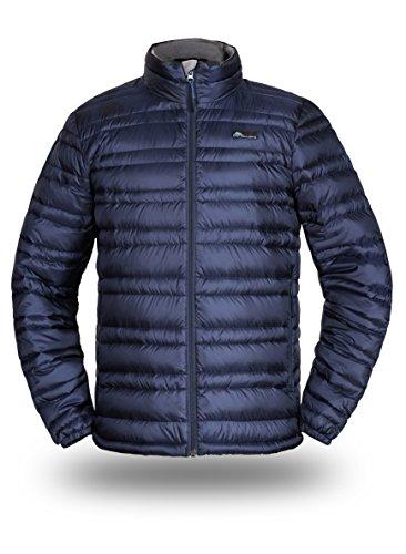 Cordillera Men's Lightweight Down Jacket (Deep Blue, M)