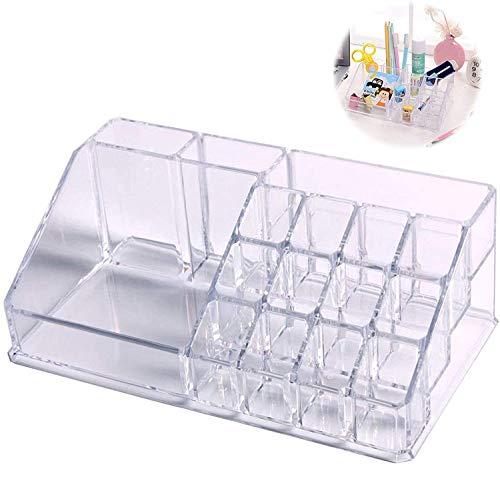 Kosmetische Aufbewahrungsbox 16 Fächern Transparente Acryl Kosmetik Organizer Aufbewahrungsbox für Schmuck Lippenstift Nagellack Make Up Pinsel Aufbewahrung Kosmetik Halter Schminkaufbewahrung