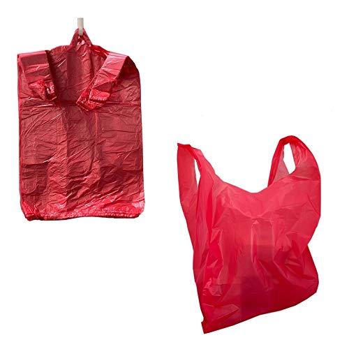 300x Plastiktüten Hemdchentragetaschen Tragetaschen Einkaufstüten Einkaufsbeutel Beutel Tüten für Lebensmittelgeschäft, Imbis, Supermarkt und Flohmart (300 Stück)