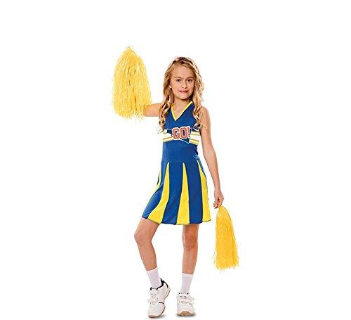 EUROCARNAVALES Disfraz de Animadora Azul y Amarilla para niña