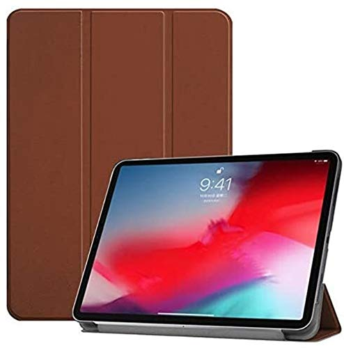 ZRH Accesorios De Pestañas Patrón De Impresión Estuche Plegable para iPad Pro 11'(2018) Funda De Cubierta Inteligente para New iPad Pro 11 Inch 2018, Shell + Película + Pluma (Color : Brown)