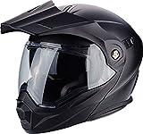 Scorpion Casco de moto ADX 1 SOLID Negro Mat, Negro, L