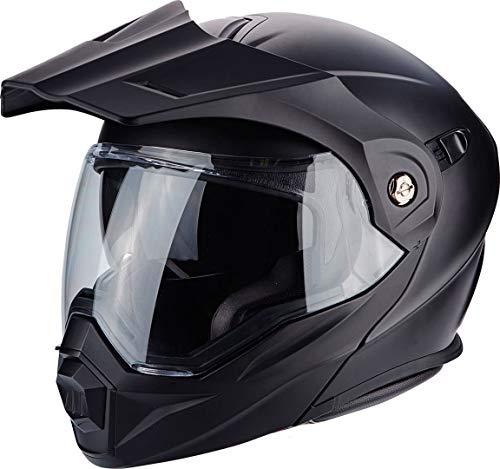 SCORPION ADX 1 Solid Casque DE Moto Hommes, Noir Mat, Large
