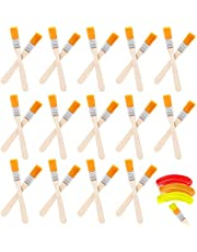 40 STKS Verf Borstel Nylon Verf Borstels Chip Verf Borstels Acryl Verf Borstels Set Met Houten Handvat Praktische Schilderen Gereedschap Voor Kunst Schilderen Tekening Reiniging Stof Borstelen Lijm