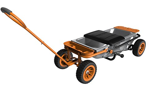 WORX Aerocart 8-in-1 Wheelbarrow / Yard Cart / Dolly + Attachable Wagon Kit
