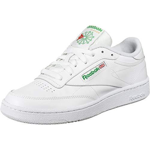 Reebok Men's Club C 85 Fashion Sneaker, white/green, 13 M US