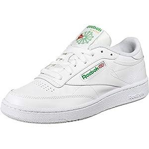 Reebok mens Club C 85 Walking Shoe, White/Green, 10.5 US