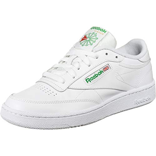 Reebok Men's Club C 85 Fashion Sneaker, white/green, 11 M US