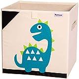Hurricane Munchkin 13 inch Animal Cube Storage Bin. Soft Fabric Animal Toy Storage Box for Cube Organizers. Forest Woodland Kids Storage Cubes for Toddlers, Girls, Boys, Nursery & Playroom (Dinosaur)