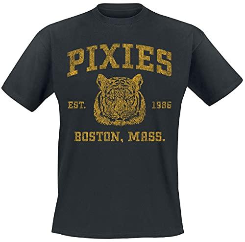 Pixies Phys Ed Hombre Camiseta Negro M, 100% algodón, Regular