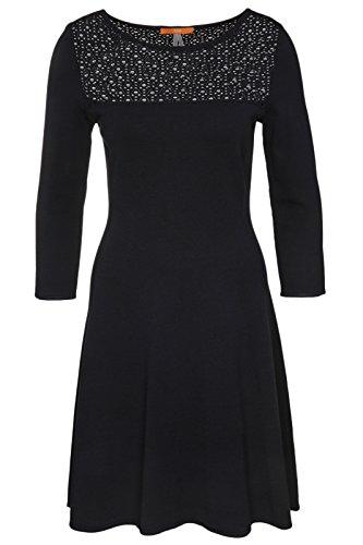 BOSS Orange Damen Kleid Witalia, Blau (Dark Blue 405), 42 (Herstellergröße: XL)