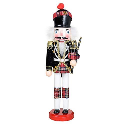 lingzhuo-shop Nussknacker Soldat Figuren Puppen Holz Puppe Figur Festliche Weihnachts Deko 30CM Nussknacker Set Painted Puppet Handmade Craft